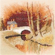 By the Canal - Aida - Heritage Cross Stitch Kit