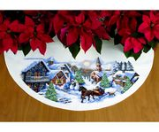 Sleigh Ride Tree Skirt - Dimensions Cross Stitch Kit