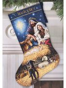 Dimensions Holy Night Stocking Cross Stitch Kit