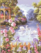 Beautiful Lake - Royal Paris Tapestry Canvas