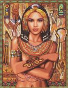 Egyptian Princess - Royal Paris Tapestry Canvas