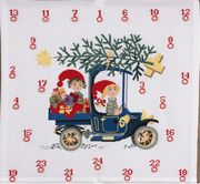 Elves Advent Calendar - Eva Rosenstand Cross Stitch Kit