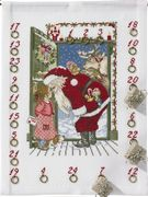 Santa at the Door Calendar - Eva Rosenstand Cross Stitch Kit