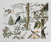 Feeding Birds - Eva Rosenstand Cross Stitch Kit