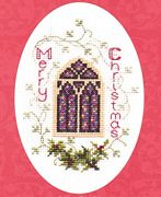 Derwentwater Designs Stained Glass Window Cross Stitch Kit