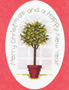 Derwentwater Designs Holly Tree Cross Stitch Kit