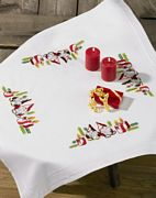 Elves and Candles Tablecloth - Permin Embroidery Kit