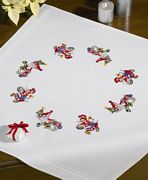 Mr and Mrs Elf Tablecloth - Permin Embroidery Kit