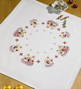 Permin Christmas Angels Tablecloth Embroidery Kit