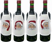 Father Christmas Wine Aprons - Permin Cross Stitch Kit