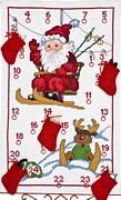 Permin Santa Ski Lift Advent Christmas Cross Stitch Kit