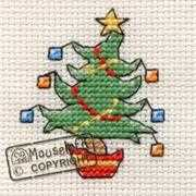 Mouseloft Jolly Tree Christmas Card Making Cross Stitch Kit