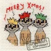 Meery Christmas - Mouseloft Cross Stitch Card Design