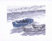 Boats on the Beach - Permin Cross Stitch Kit