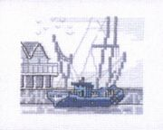 The Dockyards - Permin Cross Stitch Kit