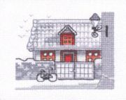 Permin Dormer House Cross Stitch Kit