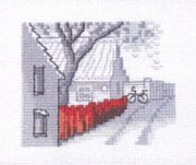 The Street - Permin Cross Stitch Kit