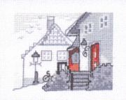 House on a Hill - Permin Cross Stitch Kit