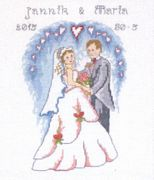 Heart Arch Wedding Sampler - Permin Cross Stitch Kit