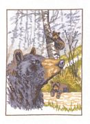 Grizzly Bear - Aida - Permin Cross Stitch Kit