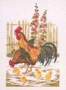 Permin Cockrel Cross Stitch Kit