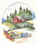 Permin Sheep Farm Cross Stitch Kit