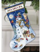 Snowman and Friends Stocking - Dimensions Cross Stitch Kit