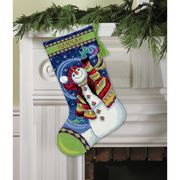 Dimensions Happy Snowman Tapestry Kit