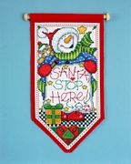 Design Works Crafts Santa Stop Here Cross Stitch Kit