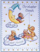 Design Works Crafts Heavenly Bears Sampler Birth Sampler Cross Stitch Kit