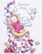 Giraffe Baby Girl Sampler - Design Works Crafts Cross Stitch Kit