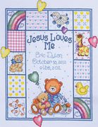 Design Works Crafts Jesus Loves Me Sampler Birth Sampler Cross Stitch Kit