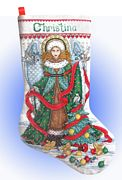 Christmas Angel Stocking - Design Works Crafts Cross Stitch Kit