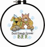 Dimensions Best Friends Forever Cross Stitch Kit