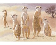 Meerkats - Evenweave - Heritage Cross Stitch Kit
