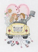 Anchor Just Married Wedding Sampler Cross Stitch Kit