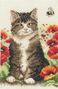 Cat and Bee - Anchor Cross Stitch Kit
