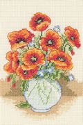 Anchor Poppy Vase Cross Stitch Kit