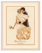 Vervaco Private Moment Sampler Wedding Sampler Cross Stitch Kit
