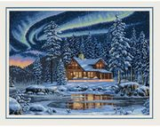 Aurora Cabin - Dimensions Cross Stitch Kit