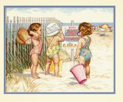 Dimensions Beach Babies Cross Stitch Kit