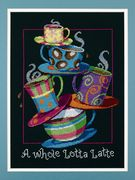 Dimensions A Whole Lotta Latte Cross Stitch Kit