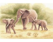 Elephants - Evenweave - Heritage Cross Stitch Kit