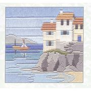 Derwentwater Designs Headland Cottages Long Stitch Kit