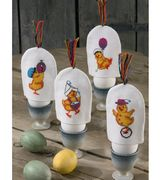 Permin Party Chick Egg Cosies Cross Stitch Kit