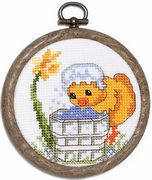 Wash Day Chick - Permin Cross Stitch Kit