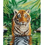 DMC Tiger Pool Cross Stitch Kit