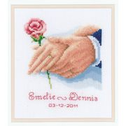 Hands and Rose Wedding Sampler - Vervaco Cross Stitch Kit