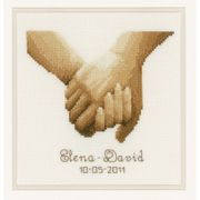 Holding Hands Wedding Sampler - Vervaco Cross Stitch Kit