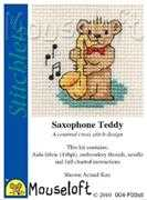 Saxophone Teddy - Mouseloft Cross Stitch Kit